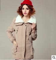 2014 Ladies Fur Coat,Hoody New Winter Europe and America Women's Slim Coat of Long Section, Fashion Warm Winter Jacket Women
