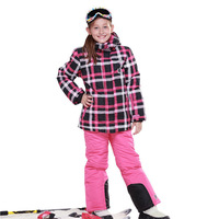 Free shipping!2014 new Children phibee kids clothing set windproof skiing jacket+pant snow suit