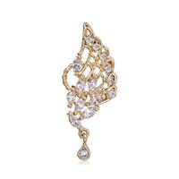 2014 Butterfly Stud Earrings Wrap Non Pierced Crystal Wholesale Genuine Pearl Brincos Stellux Jewelry For Women