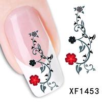 Fashion DIY 1 Sheets Japanese watermark cute rose flower 3D Design Tip Nail Art Nail Sticker Nail Decal Manicure nail tools
