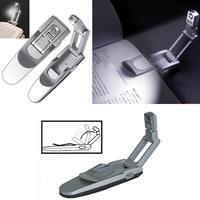 Robotic Foldable Mini LED Clip On Reading Light Bed Night Lamp Flashlight