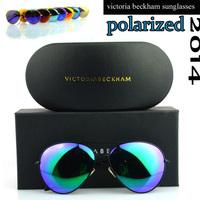 High Quality Brand Designer Victoria Beckham Polarized Sunglasses Coating lenses VB Aviator Sun glasses with original box
