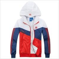 2014 Free Shipping New Arrival Men's Sportswear Hoodie Jackets Hot Sale Spring Fashion Windbreaker Zipper Coats Plus Size ZYQ