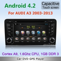Pure Android 4.2 WiFi 3G Car DVD GPS Stereo For Audi A3 2003 to 2010 2011 with Radio IPOD HD1080P TV Capacitive Screen Free map