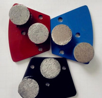 Diamond grinding shoe for concrete/granite/marble