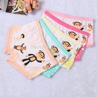 5 pcs/lot high-quality 2014 new cute girls Boxer underwear children modal cartoon panties Character Monkey for 3-10 years girls