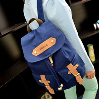 free shipping 2014  fashion Women's Vintage Canvas Satchel Backpack Rucksack Shoulder student Bag # HW03051