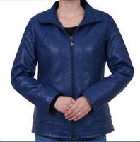 Middle-aged Leather Clothing ,Mothers Casual PU leather jacket Plus Size Women's Free Shipping L,XL,XXL,XXXL,XXXXL,XXXXXL