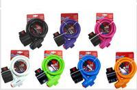 New Bicycle general lock, bike Round wire circlips, bicycle cable lock.Bike lock Black 1pcs