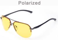Hot Night vision aluminum magnesium goggles men's polarized sunglasses driving mirror Lentes oculos de sol anti glare GA143-