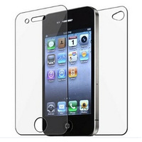 Hot Sale 20pcs (10 Front + 10 Back) Clear Full Body LCD Screen Protector for iphone 4 4S 4G Protective Film Guard with Cloth