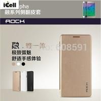 Original Rock Brand Uni Series Auto Sleep Flip Leather Case For Samsung Galaxy Alpha G850F +RETAIL MOQ:1PCS free shipping