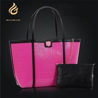 2014 new tide women handbag fashion two-piece women leather handbag genuine leather bolsas hot sale shoulder bag trendy totes