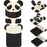 Cartoon Panda Kids Gift Organizer laptop Bag Notebook Case 8 10 11 13 14 15 inch  For Ipad Macbook Air 11 13 Pro 13 15
