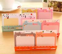 Free ship 1lot=40pcs/korean stationery kawaii lovely animal  Cake memo pad post-it note N stickers school supplies