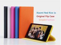 Xiaomi Red Rice 1s Original Case Xiaomi Hongmi 1S Flip Case PU  Leather Case Hongmi 1S Cover 6 Colors