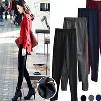 New 2014 Women's Warm Leggings Pencil Pants Womens Trousers  Pants Skinny Trouser zipper
