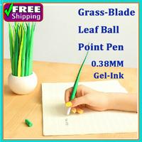 60pcs/1lot Grass-blade Gel-Iink 0.38mm Pen leaf Ball Point Pen Creative Cute Korean Stationery For Office&School Students