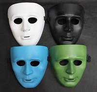 5pcs/Lot Plastic Shuffle Mask Halloween Props Masquerade Party KTV Masks Costume Play Dance BBOY JabbaWockeeZ Mask