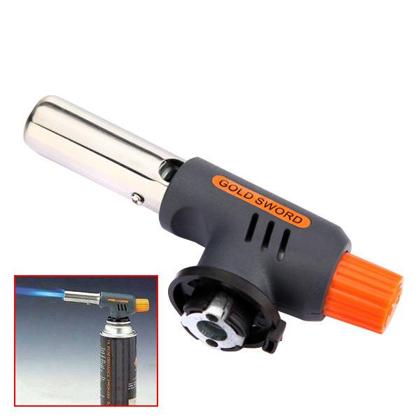 Quality Portable Gas Jet Torch Flame Maker Gun Lighter Butane Weld Burner for Welding Camping Picnic Heating BBQ(China (Mainland))