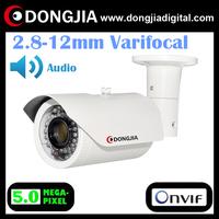 DA-IP8608TRV 2.8-12mm varifocal lens support audio 5 megapixel sensor full hd 1080p ip outdoor