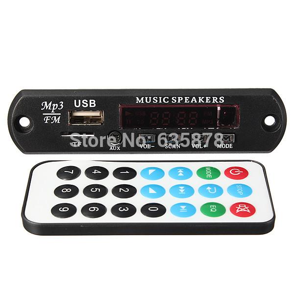 Remote Car Handsfree Bluetooth MP3 WMA Decoder Board Wireless Audio Module USB TF Car Radio Free Shipping(China (Mainland))