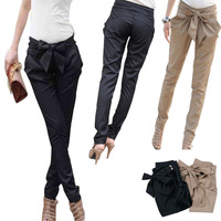 High Quality Women Skinny Long Trousers OL Casual Bow Knot Harem Slim Comfy Pants  Feitong  Wholesales