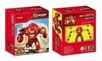 2pcs Decool 0181 Super Heroes Avengers Action Figures Minifigures Building Blocks Bricks Toys Big IRON MAN HULK BUSTER Figures