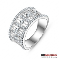 Wholesale New High-end Engagement Rings 18K Gold /Platinum Plated AAA Swiss Zircon Trendy Rings For Women Free Shipping CRI0017