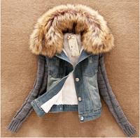 s-5xl denim jackets 2014 new autumn dress plus size winter slim women jackets outwear cost jenas with fur for women xxxl xxxxl