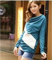 Autumn new women mixed colors XL Korean fashion loose bat shirt-sleeved t-shirt t-shirt Women T-shirt