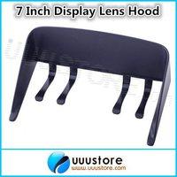 Portable Anti Glare Lens Hood Sunshade for 7 inch TFT FPV Monitor Car GPS Navigation Universal in Black