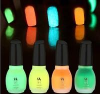 1pcs 15ml Fluorescent Neon Luminous Nail Polish Glow in Dark Nail Varnish Nail Enamel Free shipping