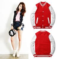 New Fashion Classic Women Jacket Slim College Varsity Baseball Jacket Stand Collar Patchwork Casual Jacket Sweatshirt Wholesale