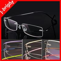 8 Colors Ultralight Memory Titanium Rimless Glasses Frame Myopia Optical Eyeglasses Frame can make 1.56, 1.61 prescription lens