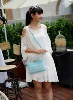Free Shipping Lady Beautiful Fashion Women's Handbag Plastic Crystal Transparent Bag Inside Small Bag Money Pack