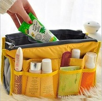 Free shipping 6 Colors Admission package   Lady's organizer bag multi functional cosmetic storage handbag bags women
