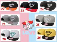 1pcs  adjust the classic diamond Snapbacks America rapid play basketball and baseball cap / Hat fly flat brimmed hat