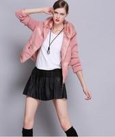 European and American winter 2014 new female short paragraph Slim ultra thick warm coat fashion stitching  NDZ170 Y9W