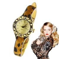 Fashion small classic leopard print fashion vintage table strap watch women