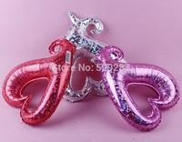 50pcs/Lot 18'' Marry Wedding Party Decoration Hollow Sweet Ballon Heart Balloon Aluminum Foil Baloon China Balloons Suppliers