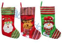 Wholesale Christmas stockings big socks Christmas gift car decorations good quality 30pcs/lot mixed style free shipping