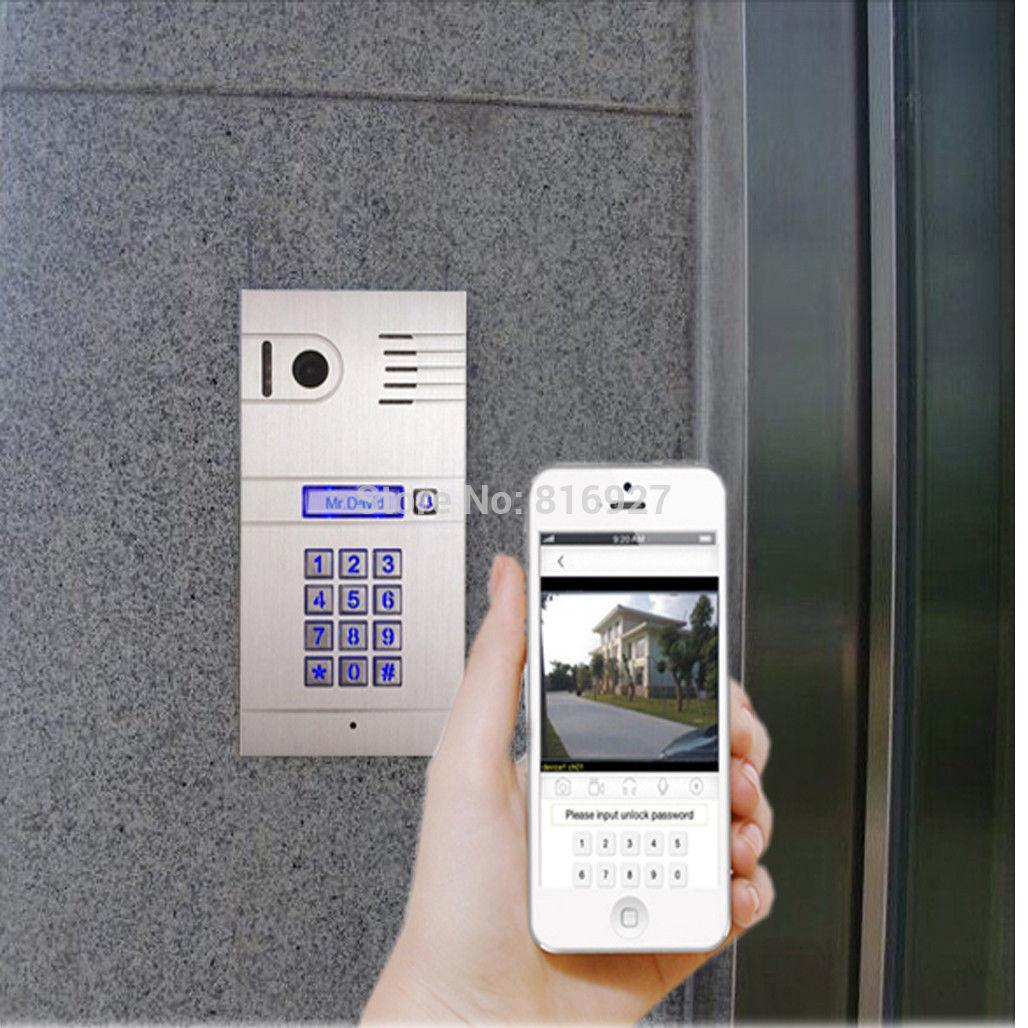 DIY Wifi IP Video door phone, remote door access by you iphone, andriod smartphone, wireless video door phone(China (Mainland))