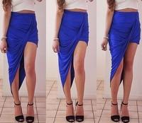 2014 New Arrival Women Irregular Sexy Asymmetrical Skirts Free Shipping #S005