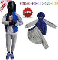 2014 new model brand children sport set baby hooded sweater jacket + pants autumn cloth set children clothing set  5sets/lot