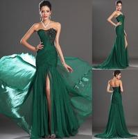 Elegant New Long Prom dress Ball Gowns Beaded Mermaid Formal Evening dress