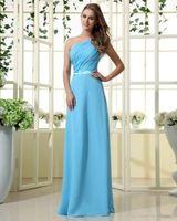 2014 luxury inclined shoulder chiffon dress custom size