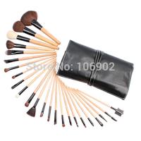 24Pcs Professional Makeup Brushes Set Wood Handle High Qulity Makeup Brush Tools Free Shipping