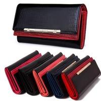 New Arrival  Women 's  Crocodile Genuine Leather Wallet  Day Clutch Purse Bag M501