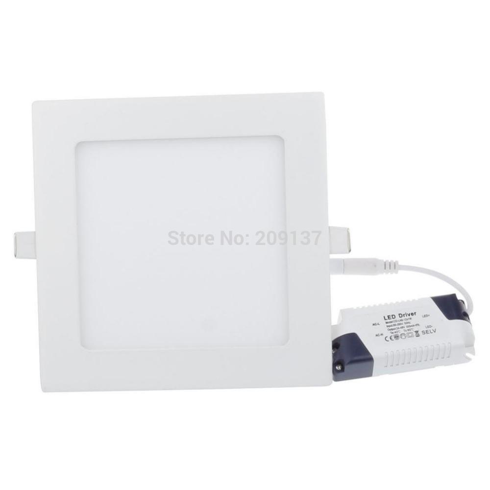 6w vierkante led lampjes ultradunne smd 2835 led plafond spot paneel ...